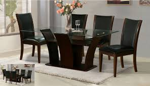 Dining Room Sets For 4 6 Seater Glass Dining Table Sets Destroybmx With Regard To Glass