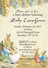 Baby Shower Invitation Cards Templates Peter Rabbit Baby Shower Invitations Theruntime Com