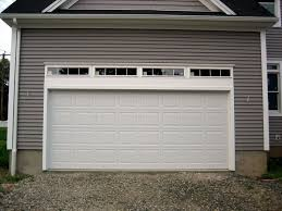 Two Car Garage Size by One Car Garage Door