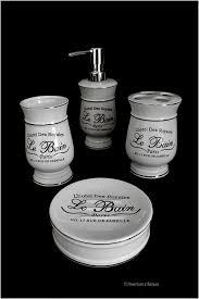 White Bathroom Accessories Set by Amazon Com Distressed 4pc Black U0026 White Vintage French Paris