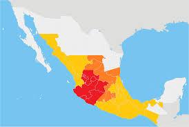 Map Of Juarez Mexico by Cristero War Wikipedia