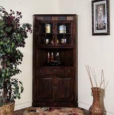 Kitchen China Cabinets Amazon Com Sunny Designs Santa Fe Corner China Cabinet In Dark