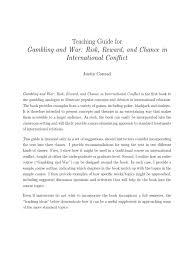 gambling u0026 war teaching guide gambling poker