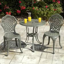 Cast Iron Patio Set Table Chairs Garden Furniture - outdoor furniture bistro sets