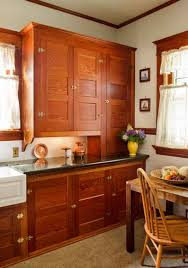 Craftsman Home Interiors Restored Cabinets In A Renovated Craftsman Kitchen Old House