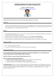 Best Resume For Hotel Management by Purchasing Manager Cv Word
