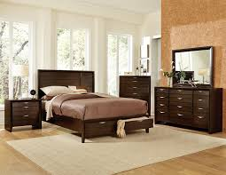 Bedroom Furniture Espresso Finish Homelegance Arezzo Platform Storage Bedroom Set Espresso B1849 1
