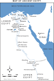 Map Egypt Map Of Ancient Egypt Bible History Online