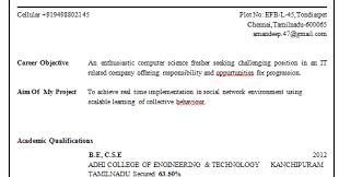 Resume Examples  Objective of Resume for Freshers  mechanical     Pinterest