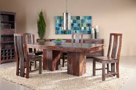 Round Dining Table Sets For 6 Zebrano Dining Set With Six Side Chairs