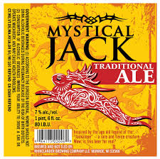 Rhinelander Mystical Jack, Imperial Jack, Traditional Ale due in