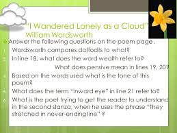 Romanticism Essay  I Wandered Lonely as a Cloud and Ode to a
