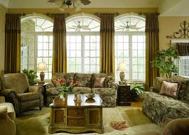 living room mid century living room idea with white arched