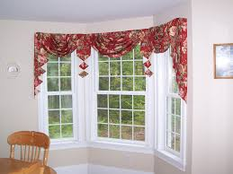 tailored swag and jabots for a bay window bay window ideas tailored swag and jabots for a bay window bay window treatmentsbow windowswindow