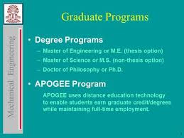 Mechanical Engineering   Graduate Programs Degree Programs    Master of Engineering or M E   thesis option