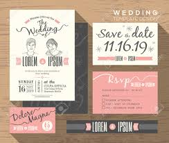 Discount Wedding Invitations With Free Response Cards Wedding Invitation Set Design Template Vector Place Card Response
