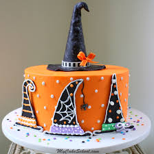 Halloween Cakes Easy by Witch Hats A Halloween Cake Decorating Tutorial My Cake
