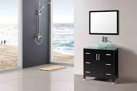 bathroom vanity countertop ideas large frameless glass wall mirror
