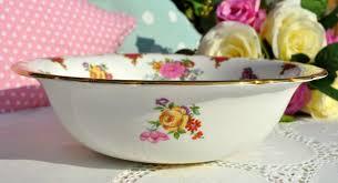 aynsley floral pink bone china vintage serving dish