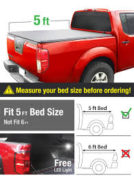 nissan frontier hard bed cover amazon com premium tcn371028 tri fold tonneau truck bed cover for