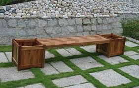the great outdoors teak bench flower box combo