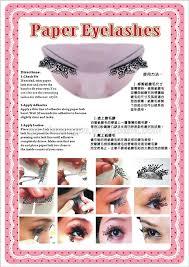 fashion paper lashes paper cutting lashes paper false