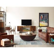 rod rustic pieced wood half moon coffee table kathy kuo home