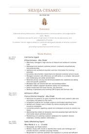 Resume For Call Center Jobs by Resume For A Call Center Agent 6933