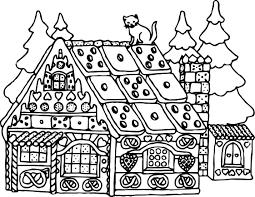 christmas santa claus house coloring page wecoloringpage