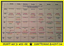 grocery guide kitchen window insanity max 30 meal plan and grocery list week one