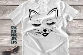 cat face svg eyelashes svg cat head s design bundles