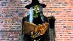halloween witch laughing scary witch prop youtube