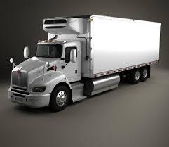 kenworth truck models kenworth t440 refrigerator truck 3 axle 2009 3d model hum3d