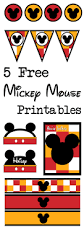 five mickey mouse free printables paper trail design