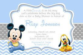 Invitation Cards For Baby Shower Templates Mickey Mouse Baby Shower Invitations Kawaiitheo Com