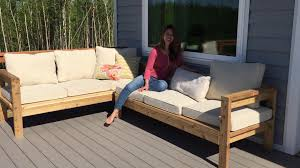 Build Your Own Sectional Sofa by How To Build A 2x4 Outdoor Sectional Tutorial Youtube