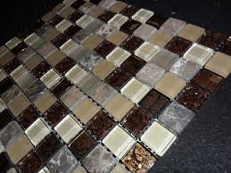 stone mosaic tile and x glass tile stone mix copper look mosaic