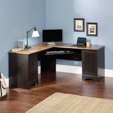 Gaming Desk Accessories by Sauder Harbor View Corner Computer Desk Antiqued Paint Finish