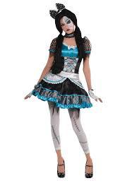 Girls Zombie Halloween Costumes Girls Teen Shattered Broken Doll Zombie Halloween Fancy Dress