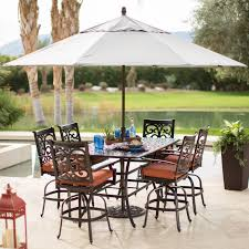 Teak Patio Umbrellas by Exterior Dark Wood Patio Furniture On Natural Green Grass And