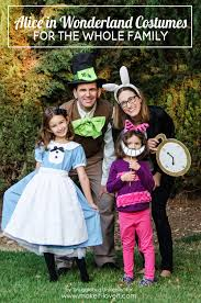 Halloween Costumes For Families by Alice In Wonderland Costumes For The Whole Family