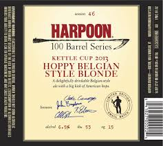Harpoon Kettle Cup Hoppy Belgian Blonde Ale now available in 100