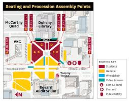 Bc Campus Map Assembly And Procession Commencement 2017 Usc