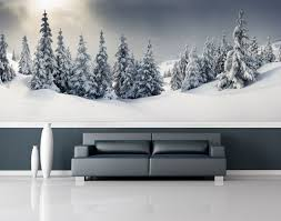 snow forest wall mural repositionable peel stick wall paper snow forest wall mural repositionable peel stick wall paper wall covering