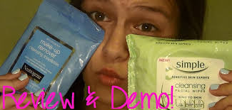 simple vs neutrogena makeup remover wipes review u0026 demo youtube