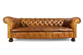 Chesterfield Sofa Leather by Vintage Tan Leather Buttoned Chesterfield Sofa 1960s For Sale At
