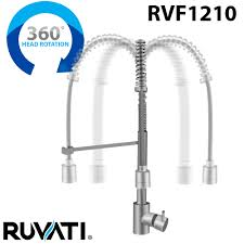 ruvati rvf1210st commercial style pullout spray kitchen faucet