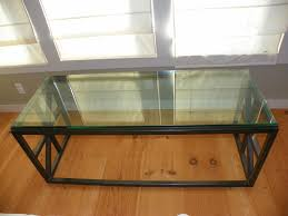 Repurposed Coffee Table by Glass Top Entertainment Table Crafted From Repurposed