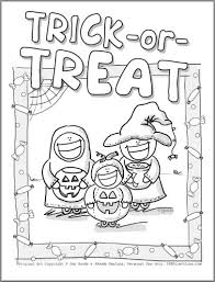 amazing in addition to lovely trick or treat coloring pages
