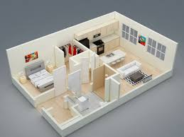 One Room Apartment Floor Plans Delighful 3d Studio Apartment Floor Plans For Apartments Inside Decor